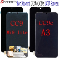 For Xiaomi CC9 MI9 lite LCD Display Touch Screen Digitizer Assembly Replacements Parts for Xiaomi Mi A3 cc9e LCD