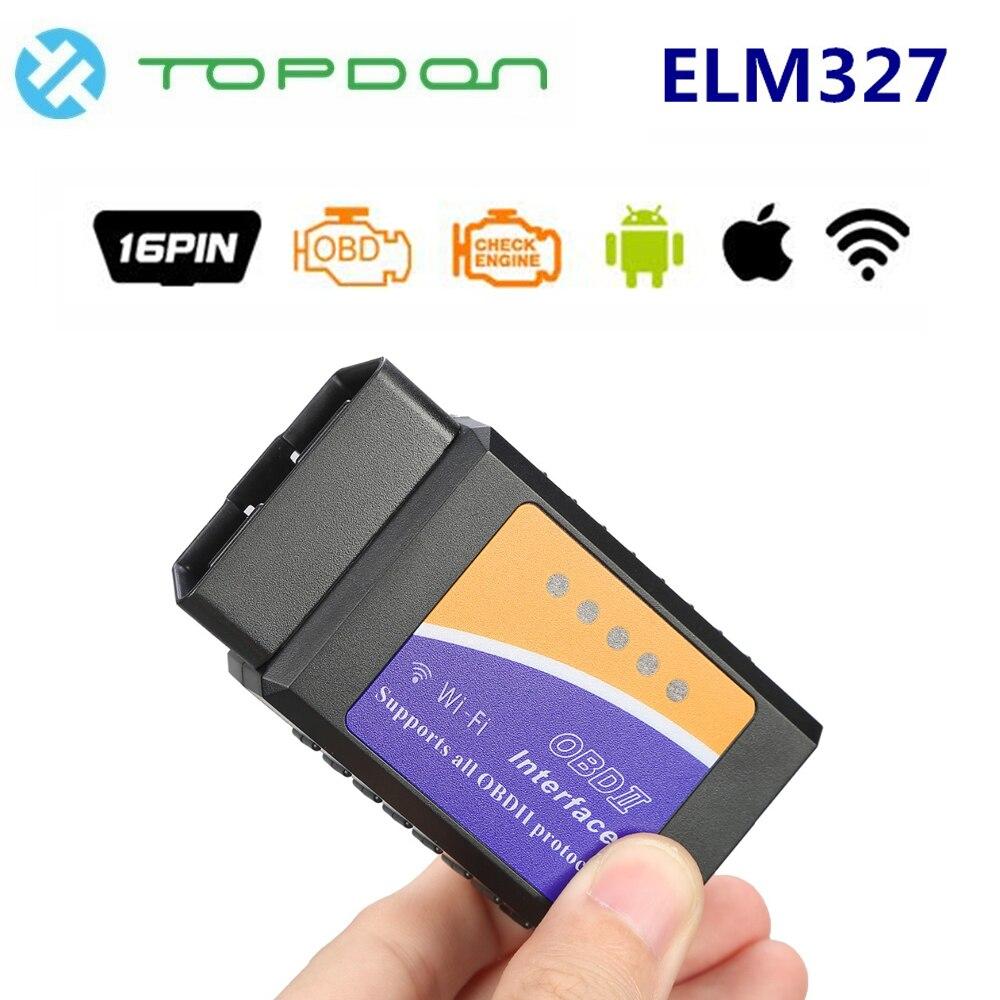TOPDON Универсальный Elm327 V1.5 WiFi Bluetooth OBD2 Pic18f25k80 OBD2 сканер OBDII OBD адаптер Авто диагностический инструмент для Android/IOS Считыватели кодов и сканеры      АлиЭкспресс
