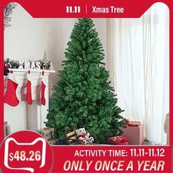 1,5 M 1,8 M 2,1 M cifrado Artificial árbol de Navidad con Base de hierro 2020 regalos de Año Nuevo decoraciones de Navidad para el hogar 5/6/7 pies