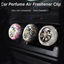 1Pcs Car Air Freshener Diamond Crystal Force Auto Vent Perfume Clip Outlet Conditioning Diffuser Bling Accessories