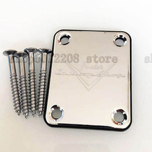 Custom Shop Chrome F Neck Plate For ST TL Electric Guitar And Bass musical instrument accessories стоимость