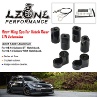 Billet T 6061 Anodized Aluminum Bolt on For 08 14 Subaru Impreza WRX STi Hatchback Rear Roof Wing Spoiler Riser Lift Extension