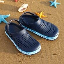 2020Men Sandals Black Blue Crocse Summer Sandals EVA Garden Crocks Clogs Soft Memory Foam Hospital S