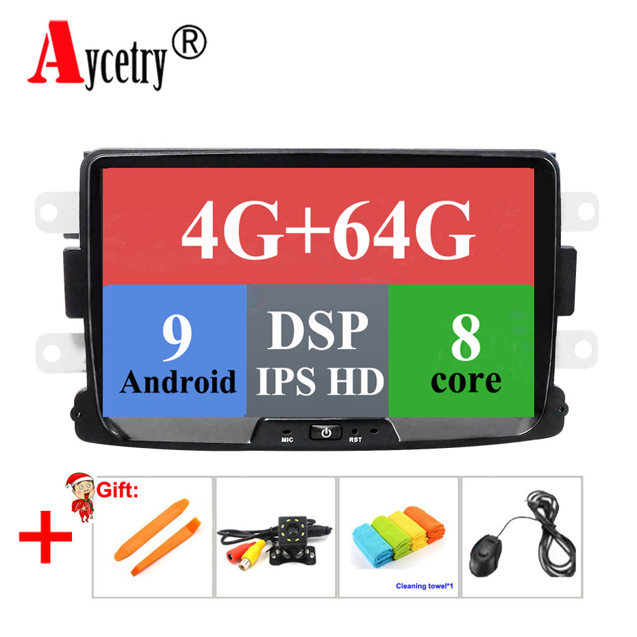 Radio-Player Car Multimedia DSP Lada/xray Android 9.0 2/logan 64G for 8-Core Dvd GPS