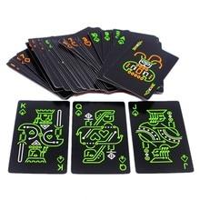 1 pacote luminoso fluorescente cartões de poker cartão de jogo brilho no escuro barra festa ktv noite luz cartões coleção poker especial