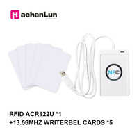 Habanlun-Kit ACR122U compatible con ISO/IEC18092, lector de tarjetas de acceso RFID, escritor de grietas, lector de tarjetas de acceso, 13,56 MHZ