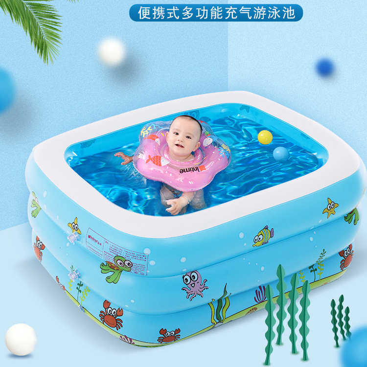 Infant Child Baby Kids Thick Inflatable Bathtub Barrel Swimming Pool Marine Ball Play With Water Shanghai Small In