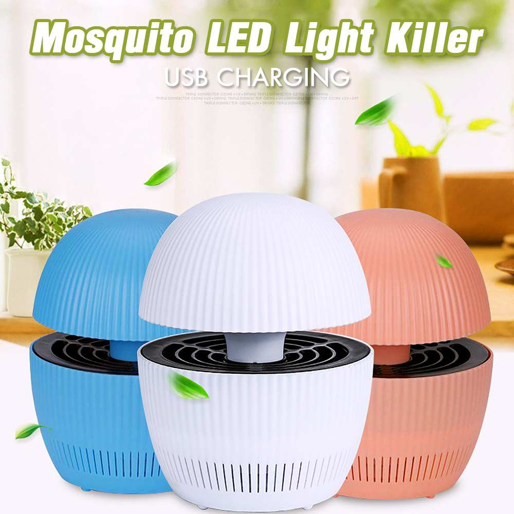 1Set Electric USB Mosquito Killer LED UV Light Lures Mosquitoes Safe 12V 3W Mosquito Killer Insect Trap Lamp With USB Cable