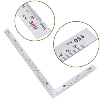 Stal nierdzewna 15x30cm 90 stopni kąt metryczny spróbuj Mitre kwadratowa linijka skala tanie i dobre opinie Shanwen NONE CN (pochodzenie) PXPD1A60043