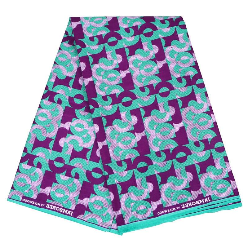Wholesale 6 Yards African Ankara Wax Fabric Breathable Soft Pure Polyester High Quality Ankara African Wax Print Fabric 110cm
