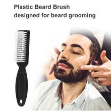 Beard Brush Comb Scissors Cleaning Brush Barber Shop Skin Vintage Oil Head Shape Carving Cleaning Brush