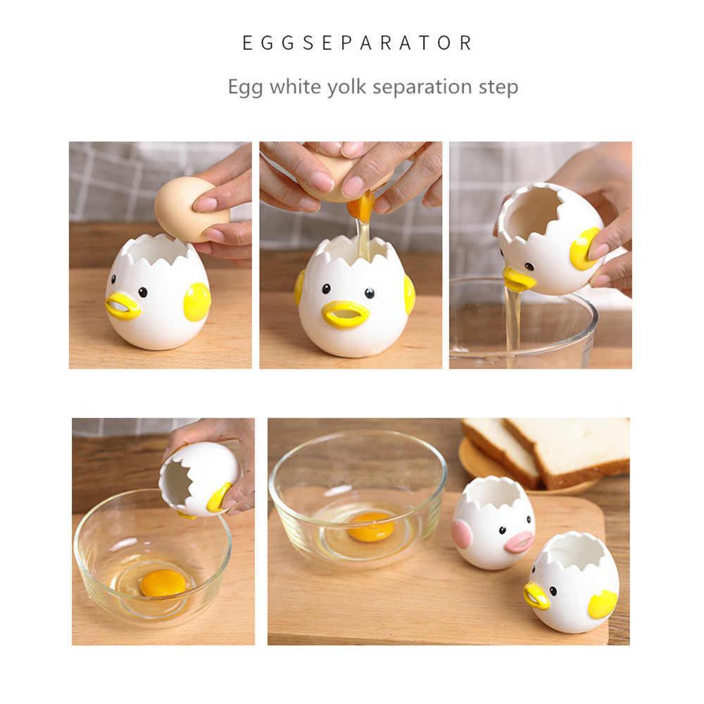 simpatico separatore uovo a forma di pulcino utilizzato per casa separatore bianco uovo filtro tuorlo duovo cucina e cottura separazione e filtrazione delle uova giallo Separatore uovo