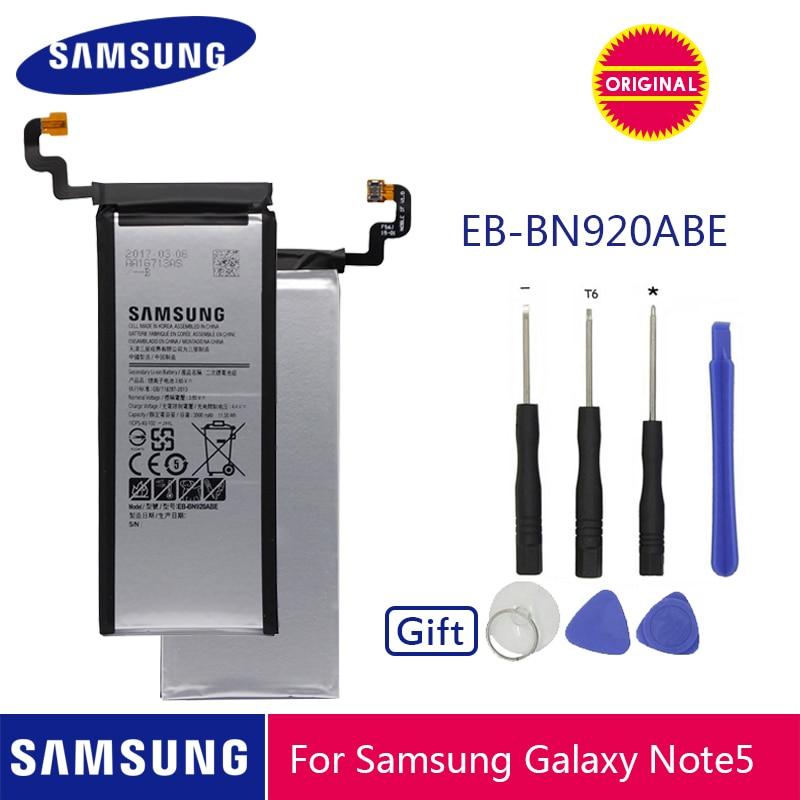Original de SAMSUNG de la batería del teléfono EB-BN920ABE 3000mAh para Samsung Galaxy Note 5 N920 N920A N920T N920I N920G N920V N9200 N9208