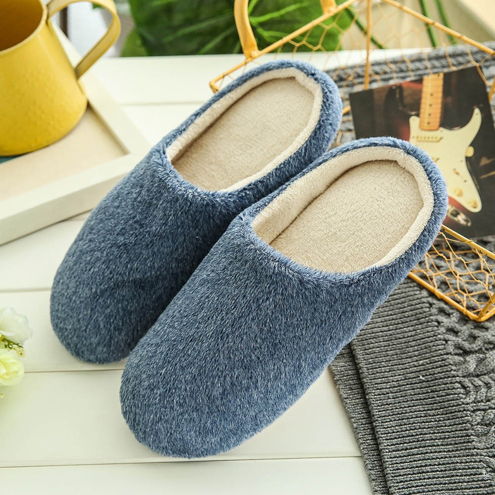 Sleeper #P501 2019 Men Warm Home Plush Soft Slippers Indoors Anti-slip Winter Floor Bedroom Shoes домашние тапочки Free Shipping