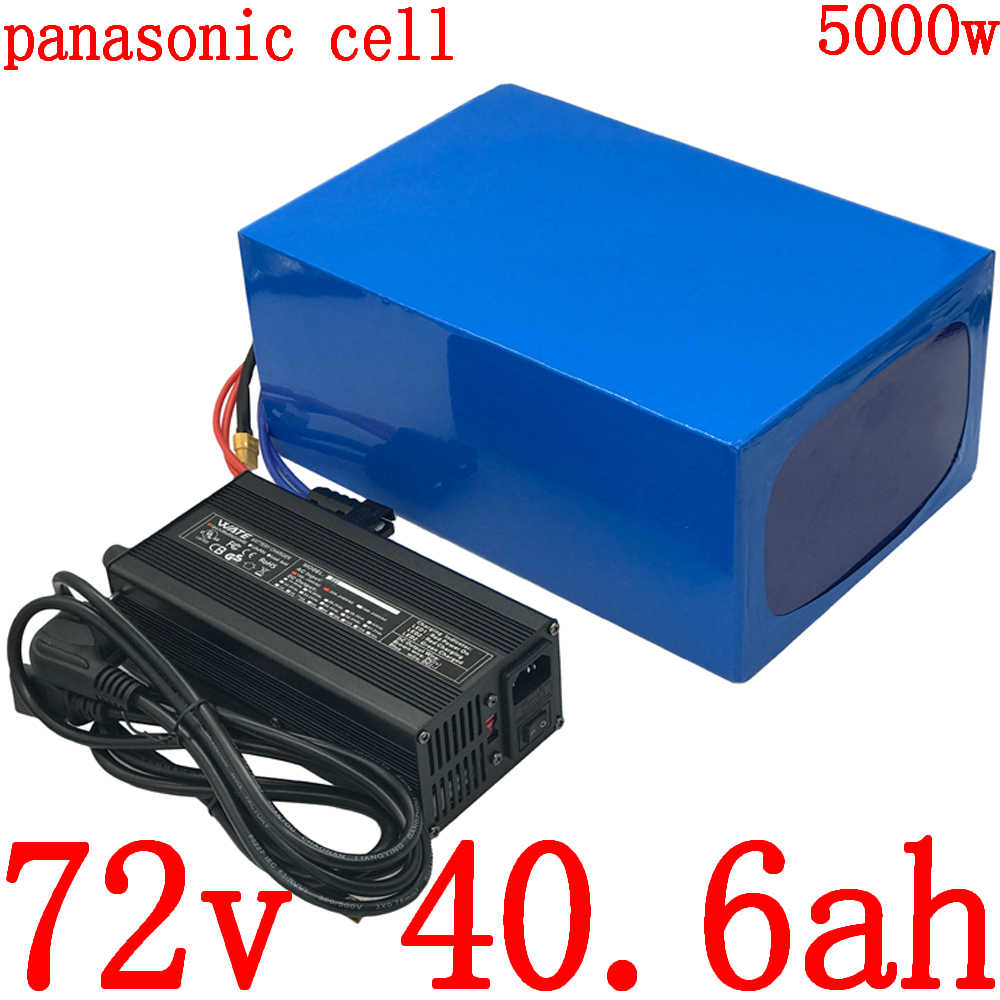 72V 40AH lithium battery pack 72V 3000W 4000W 5000W electric scooter bicycle battery 72V lithium ion battery use panasonic cell