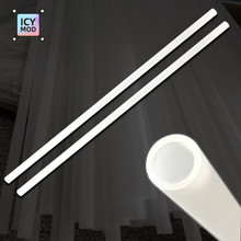 2pcs 50CM Frosted Tube PMMA Acrylic Tube OD 12mm/14mm/16mm Matte Hard Pipe 500mm Length For PC Water Cooler System Custom Loop