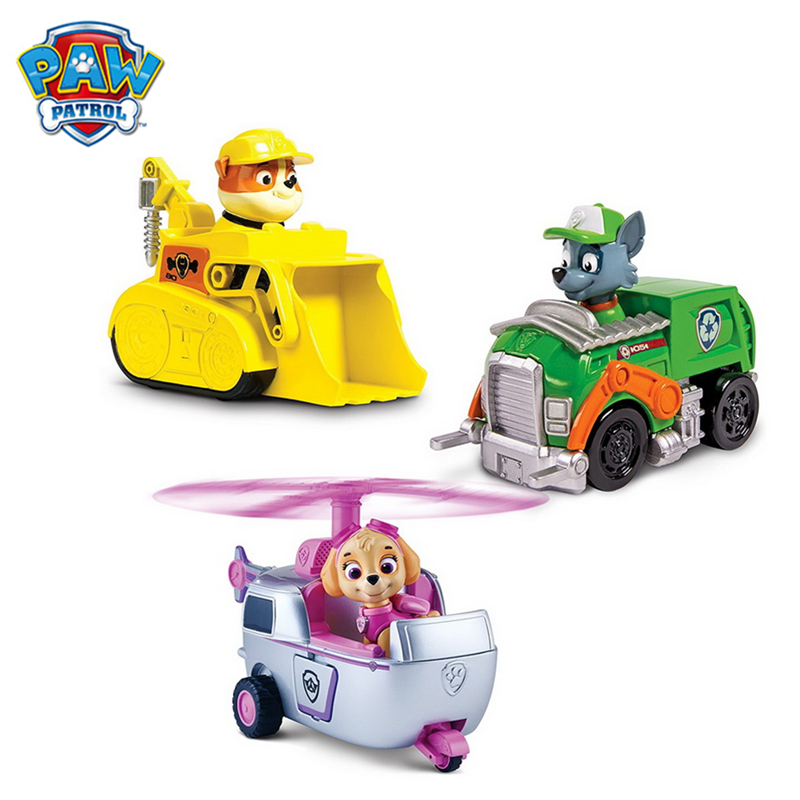 Paw Patrol Dogs Rescue Puppy Patrol Vehicle Toys Patrulla Canina Ryder Anime Action Figures Model Car Toy Birthday Xmas Gift