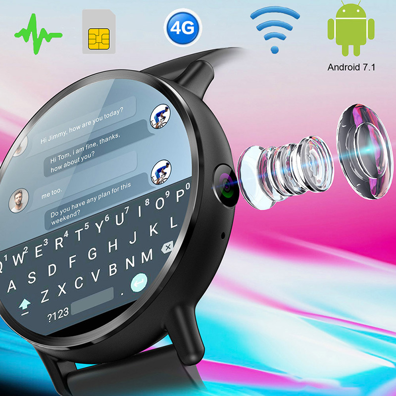 2020 New 4G Smart Watch Phone With Sim Card 8MP Camera WIFI GPS Big Big Screen Smart Watch For Andriod 7.1 With Call Function