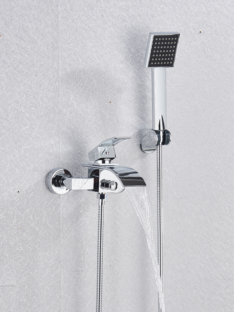 Bathtub Faucet Tap Waterfall Wall-Mount Robinet Cold-Water-Mixer Hot Quyanre Baignoire