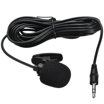 Car Audio Microphone 3.5mm Clip Jack Plug Mic Stereo Mini Wired External Microphone for bluetooth Stereo GPS DVD MP5 Radio image