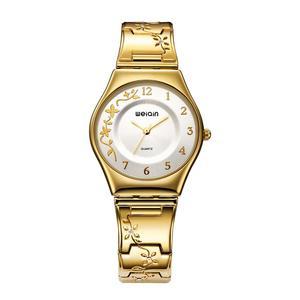 Image 2 - WEIQIN الفاخرة العلامة التجارية الذهبية ساعات النساء أزياء رقيقة جدا ساعة كوارتز امرأة أنيقة فستان السيدات ساعة Montre فام
