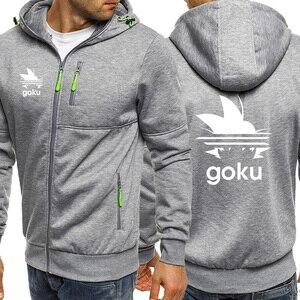 Image 4 - Outono venda quente dragon ball hoodies dos homens moda zíper moletom com capuz anime goku jaqueta casual japonês harajuku streetwear