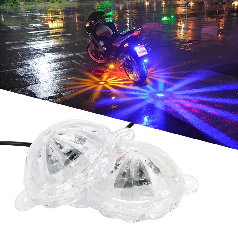 Moto Chassis Light LED Atmosphere Lamp Motorcycle Lighting Motorbike Flash Strobe Light Motorcycle Decoration