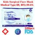 100 шт. детские хирургические медицинские маски для лица с ушного вкладыша 3 слоя аэродинамическим способом из расплава нетканые медицинские...
