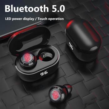 Dropshipping in-ear earphones A6 TWS Mini Wireless Bluetooth 5.0 HiFi Stereo Earphones with Digital Charge Box Earphone