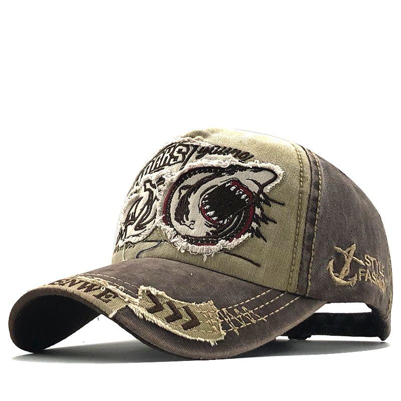 Nowa bawełniana męska czapka z daszkiem dla kobiet czapka typu snapback Shark hafty kości czapki gorras casual casquette mężczyźni czapki baseballowe