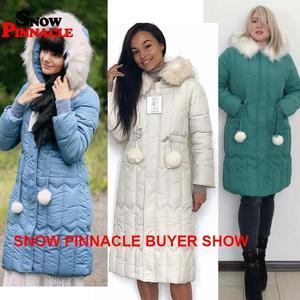 Image 2 -  25 stopni zima kobiety długie kurtki parki Plus rozmiar M 5XL gruby ciepły duża, futrzana kołnierz kobiet Slim sintepon parki znosić płaszcz