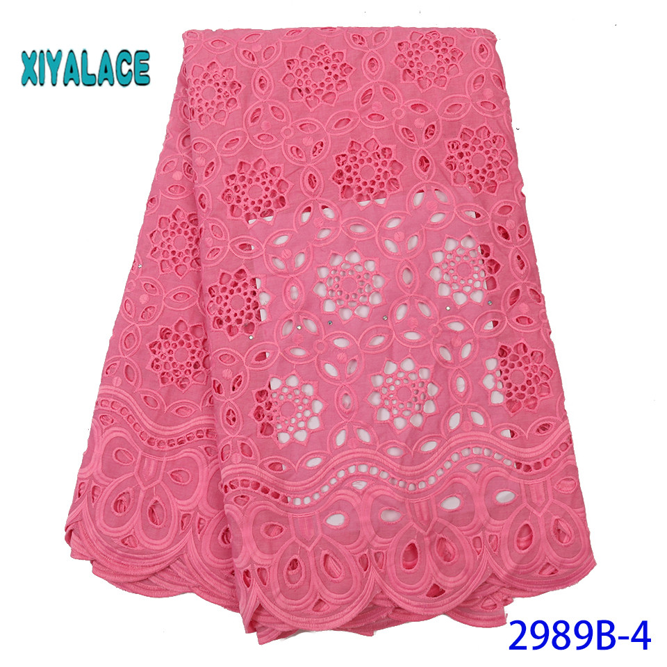 African Lace Fabric 2019 High Quality Lace French Lace Fabric Embroidery Fabric Nigerian Voile Suisse Lace Fabrics YA2989B-4