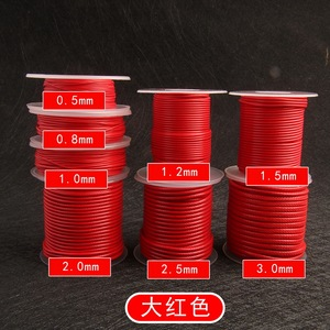 0.5 0.8 1.0 1.2 1.5 2.0 2.5mm Red Waxed Cord Waxed Thread Cord String Strap Necklace Rope Beads for Jewelry Making