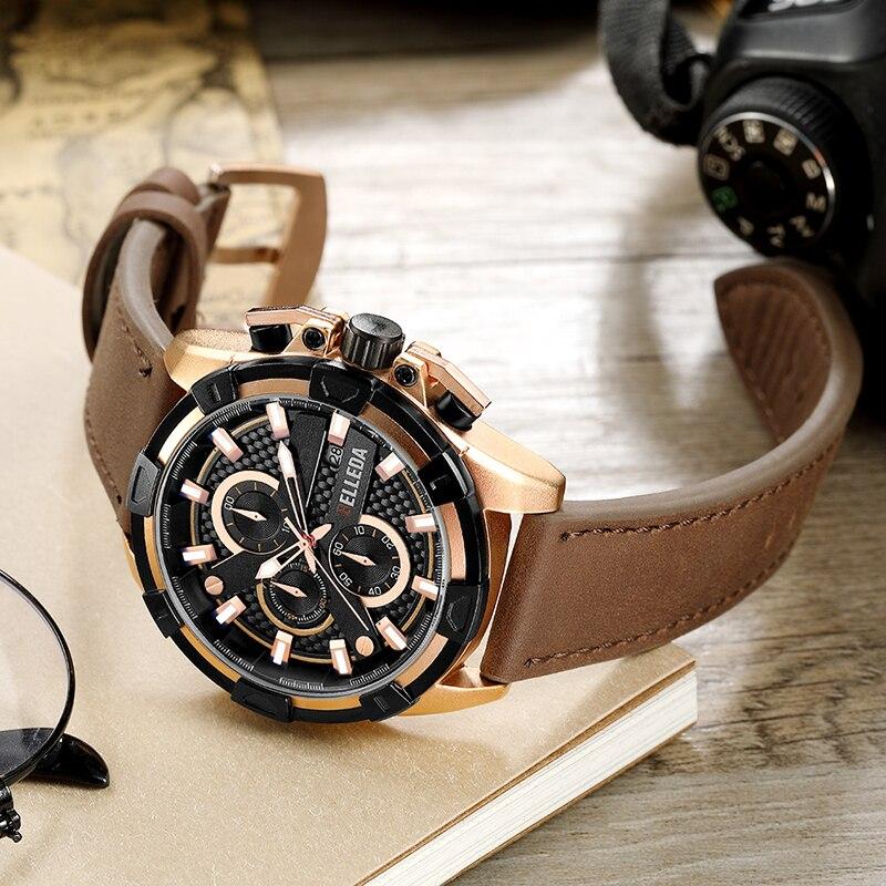 Parnis 39 мм черный циферблат кварцевые мужские часы водонепроницаемый сапфировый Кристалл хронограф светящийся мужские часы zegarek meski мужские ... - 4