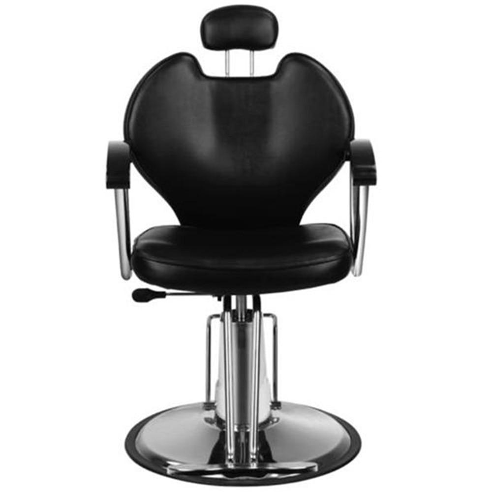HZHigh Quality 8712 Professional Portable Hydraulic Lift Man Barber Chair Black For Barber Shop Salon