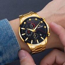 Swish Дата хронограф Брендовые мужские часы с кварцевым механизмом