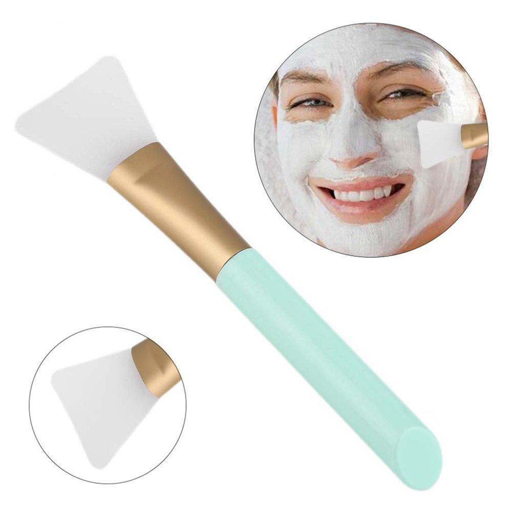 2Pcs DIY Silicone Facial Mud Mask Brush Stirring Stick Makeup Applicator Tool Facial Mask Brushes  Flat Brush Head Skin-friendly