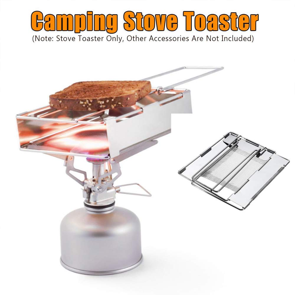 4 Slice Camping Bread Toast Tray Gas Stoves Cooker Camping Toaster Stand CB