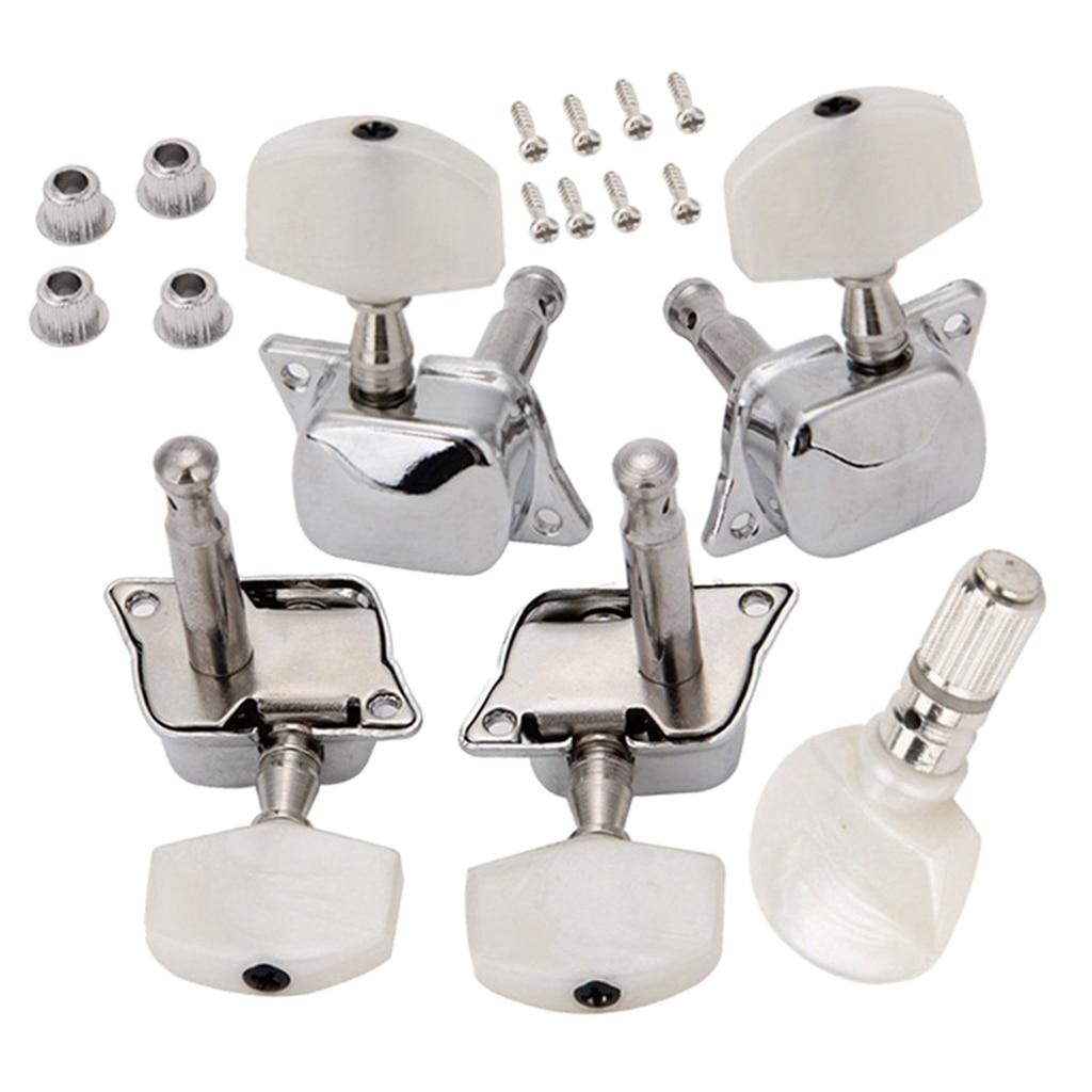 5 pçs/set Semi-fechado Cordas do Banjo Estacas Pegs Tuners Pegs Para 5 Acessório-4