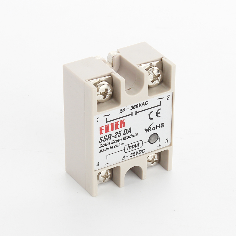 1pcs SSR- 25DA,SSR, 25, 25A 32V <font><b>dc</b></font> <font><b>3</b></font> to <font><b>24</b></font> 380v <font><b>ac</b></font> solid state relay ssr 25da plastic cover factory wholesale image