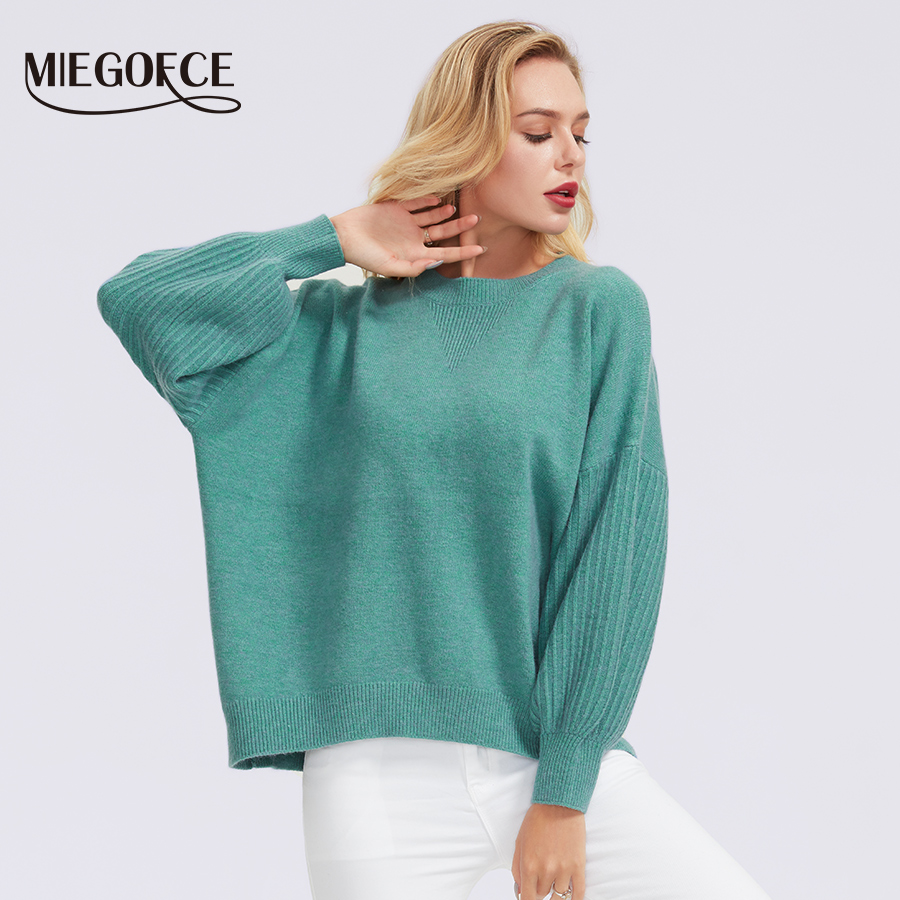 Miegofce 2019 Women's Warm Turtleneck Solid Turtleneck Made Of Thick Polyester Fiber Autumn Winter Jacket Will Fit Any Image