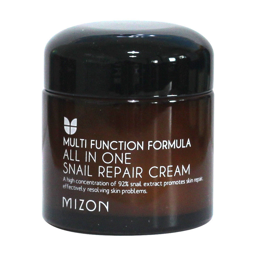 MIZON All In One Snail Repair Cream 75ml Moisturizing Anti Wrinkle Pore Repairing Firming Face Cream Scar Acne Treatment