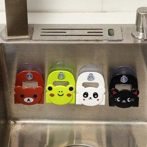 Lovely Kitchen Accessories Organizer Tools Cartoon Sponge Rag Storage Rack Home Decoration Kitchen Supplies Gadget Goods