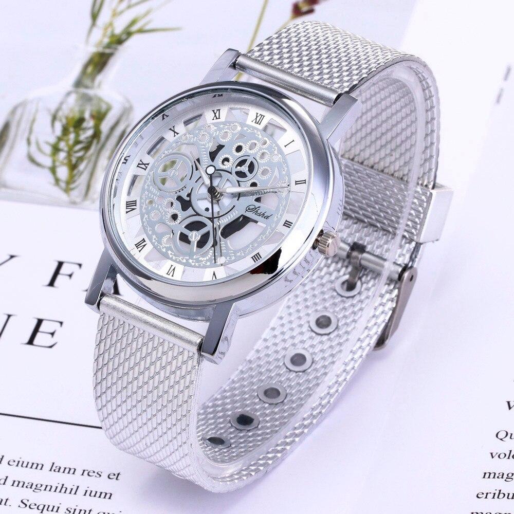 Man Watch 2019 Design Transparen Wrist Watch Men Simple Style Mesh Belt Watchs Men Women Unisex Quartz Watches relogio masculino