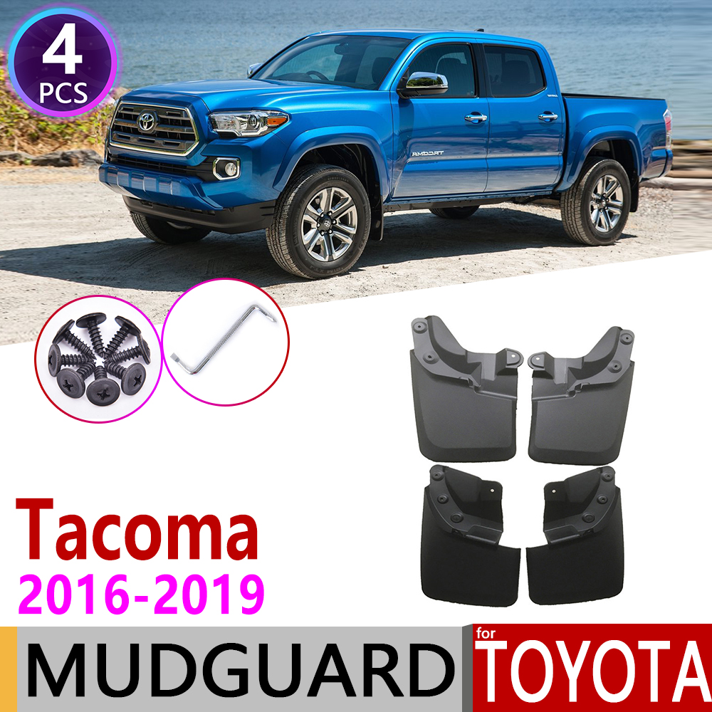 4PCS For Toyota Tacoma 2016-2017 Front Rear Splash Guards Mudguards Mud Flaps