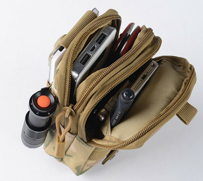 2020 Army Green Camo Print Tactical Molle Pouch Handbags Belt Waist Backpack Military Fanny School Bag Pack Outdoor Bags