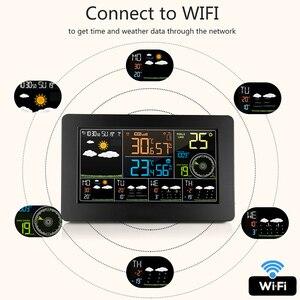 Image 4 - Wielofunkcyjna stacja pogodowa WiFi kontrola aplikacji inteligentny Monitor pogody wewnętrzna temperatura zewnętrzna wilgotność barometryczna prędkość wiatru