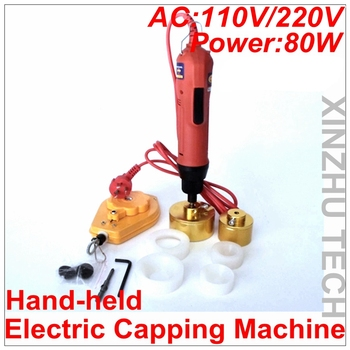 Hand-held Electric Capping Machine Precsion Screwdriver Capper AC110V/AC220V With 6 Rubber Insert  For 10-50mm Cap