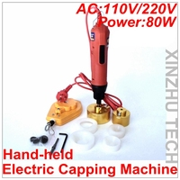 Hand held Electric Capping Machine Precsion Screwdriver Capper AC110V/AC220V With 6 Rubber Insert For 10 50mm Cap