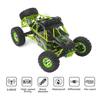 WLtoys 12428 4WD 1/12 2.4G 50km/h Electric Brushed RC Buggy Off-road Car Toys High Speed Climbing Race Remote Control Car Toy